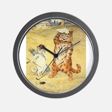 golfing art Wall Clock