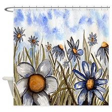 Whimsical Daisies Shower Curtain