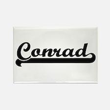 Conrad surname classic retro design Magnets