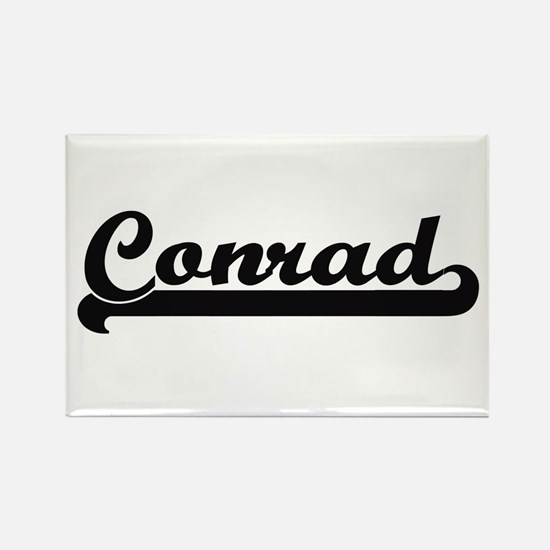 Conrad surname classic retro design Magnets