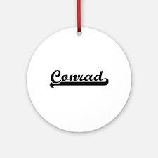 Conrad surname classic retro desi Ornament (Round)