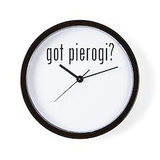 got pierogi Wall Clock