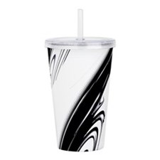 Black and White Flows Acrylic Double-wall Tumbler