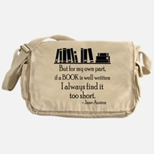 Book Lover Quote Messenger Bag