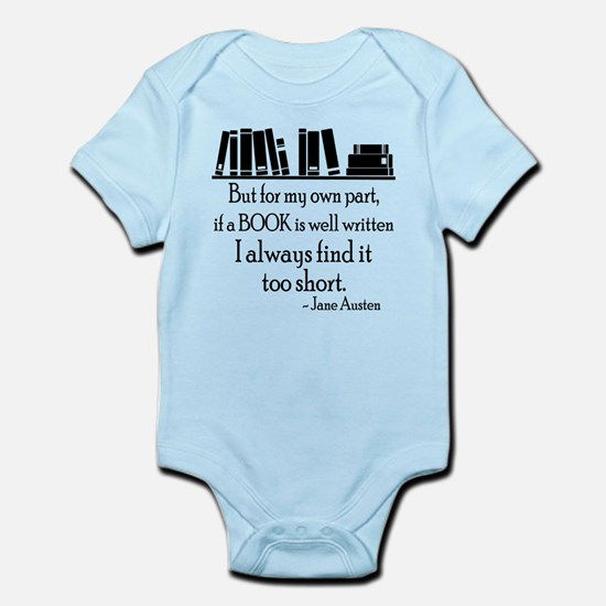 Book Lover Quote Infant Bodysuit