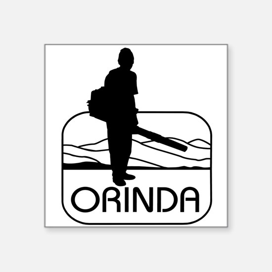 Orinda Leaf Blower Logo Sticker