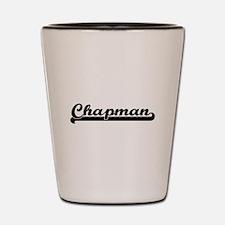 Chapman surname classic retro design Shot Glass