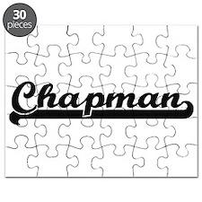 Chapman surname classic retro design Puzzle