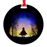 Into the woods Round Ornament