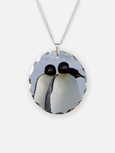 Emperor Penguins Huddled Necklace