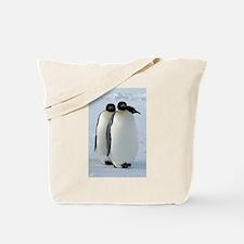 Emperor Penguins Huddled Tote Bag