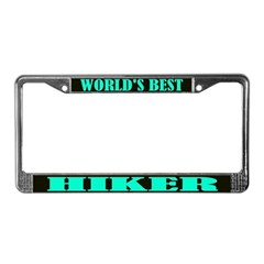 World's Best Hiker License Plate Frame