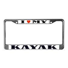 Kayak Love License Plate Frame