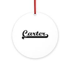 Carter surname classic retro desi Ornament (Round)