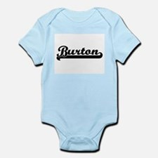 Burton surname classic retro design Body Suit