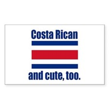 Cute Costa Rican Rectangle Decal