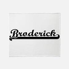Broderick surname classic retro desi Throw Blanket
