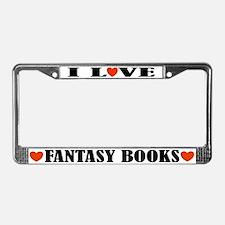 Fantasy Books License Plate Frame