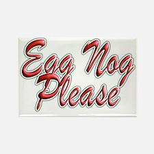 Egg Nog Please Rectangle Magnet