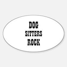 Cute Dog sitters rock Decal