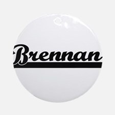 Brennan surname classic retro des Ornament (Round)