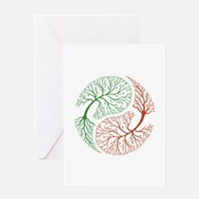 Yin Yang Tree 1 Greeting Card