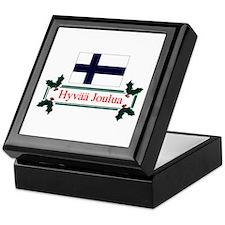 Finnish Hyvaa Joulua Keepsake Box