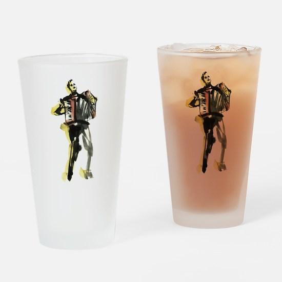 Accordion player Drinking Glass