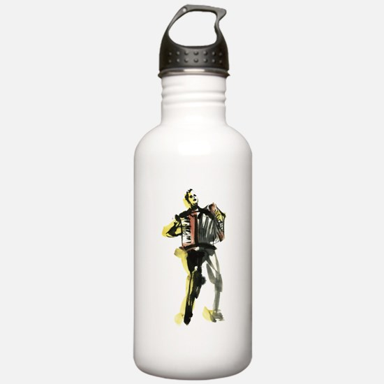 Accordion player Water Bottle