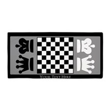 Chessboard Personalized Beach Towel