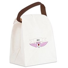 Rose Pilot Wings Canvas Lunch Bag