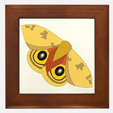 Cute Moths Framed Tile