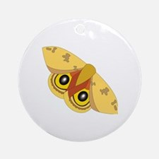 Unique Moths Round Ornament
