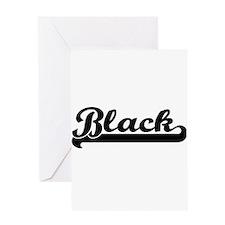 Black surname classic retro design Greeting Cards