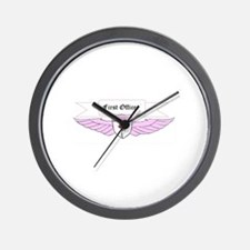 Ladies First Officer Wings Wall Clock