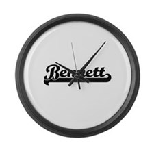 Bennett surname classic retro des Large Wall Clock