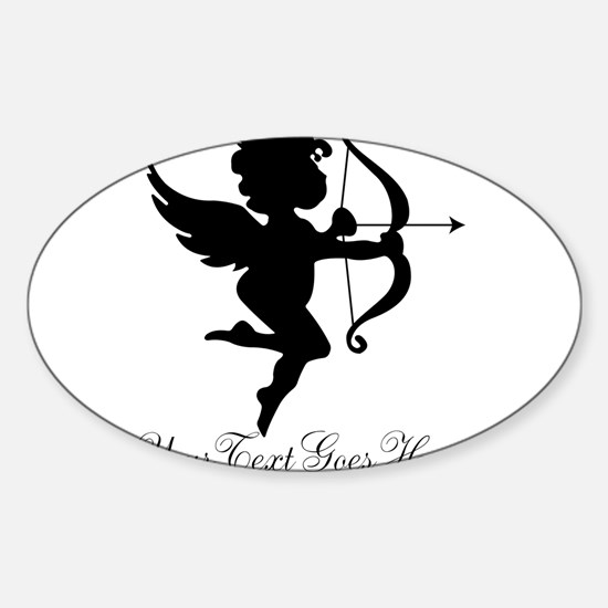 Valentines Day Gifts Cupid Sticker (Oval)
