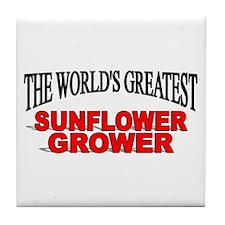 """The World's Greatest Sunflower Grower"" Tile Coast"