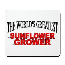 """The World's Greatest Sunflower Grower"" Mousepad"