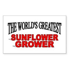 """The World's Greatest Sunflower Grower"" Decal"