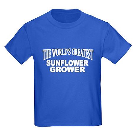 """""""The World's Greatest Sunflower Grower"""" Kids Dark"""