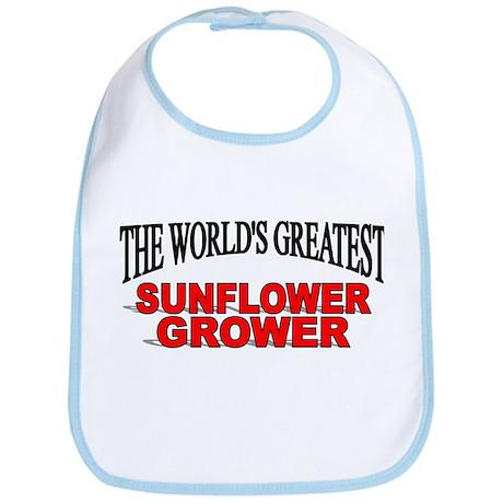 """The World's Greatest Sunflower Grower"" Bib"