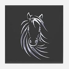 Silver Horse Tile Coaster