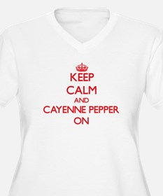 Keep calm and Cayenne Pepper ON Plus Size T-Shirt