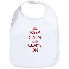 Keep calm and Clams ON Bib
