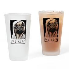 Pug Life  Drinking Glass
