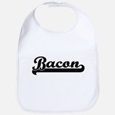 Bacon surname classic retro design Bib