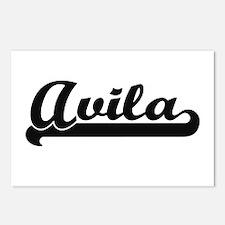 Avila surname classic ret Postcards (Package of 8)
