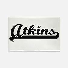 Atkins surname classic retro design Magnets