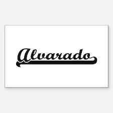 Alvarado surname classic retro design Decal